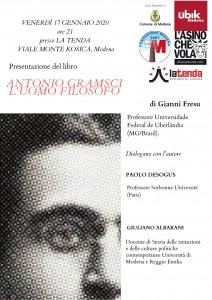 Invito definitivo Presentazione saggio Antonio Gramsci. L'uomo filosofo