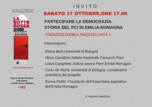Invito presentazione Progetto Storia PCI Emilia Romagna