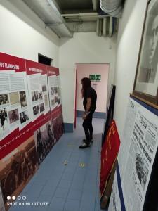 Allestimento mostra storia PCI di Modena